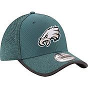 New Era Men's Philadelphia Eagles 2017 Training Camp 39Thirty Teal Flex Hat