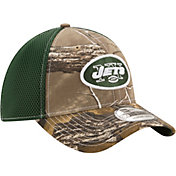 New Era Men's New York Jets Real Tree Neo 39Thirty Camouflage Flex Hat