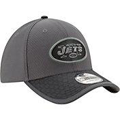 New Era Men's New York Jets Sideline 2017 39Thirty Graphite Stretch Fit Hat