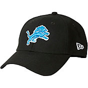 New Era Men's Detroit Lions 9Twenty Adjustable Black Hat