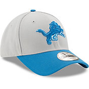 New Era Men's Detroit Lions League 9Forty Adjustable Grey Hat