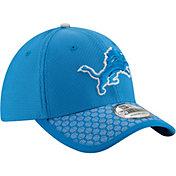 New Era Men's Detroit Lions Sideline 2017 On-Field 39Thirty Flex Hat