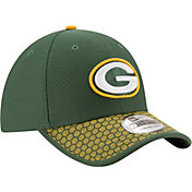 New Era Men's Green Bay Packers Sideline 2017 On-Field 39Thirty Flex Hat
