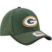 New Era Men's Green Bay Packers 2017 Training Camp 39Thirty Green Flex Hat