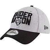 New Era Men's Oakland Raiders 2018 NFL Draft 39Thirty Stretch Fit Grey Hat