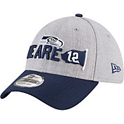 New Era Men's Seattle Seahawks 2018 NFL Draft 39Thirty Stretch Fit Grey Hat