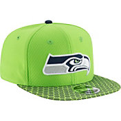 New Era Men's Seattle Seahawks Sideline 2017 On-Field 9Fifty Snapback Adjustable Hat