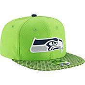 New Era Men's Seattle Seahawks Sideline 2017 On-Field 9Fifty Snapback Adjustable Hat