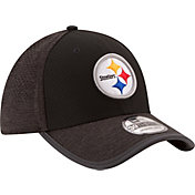 New Era Men's Pittsburgh Steelers 2017 Training Camp 39Thirty Black Flex Hat