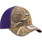 New Era Men's Minnesota Vikings Real Tree Neo 39Thirty Camouflage Flex Hat