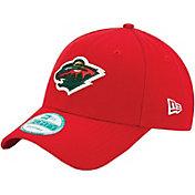 New Era Men's Minnesota Wild 9FORTY Red Adjustable Hat