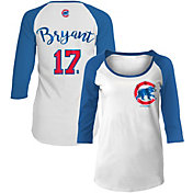 5th & Ocean Women's Chicago Cubs Kris Bryant #17 Three-Quarter Sleeve Shirt