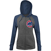 5th & Ocean Women's Chicago Cubs Grey/Royal Full-Zip Hoodie