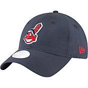 New Era Women's Cleveland Indians 9Twenty Team Linen Adjustable Hat