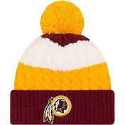 New Era Women's Washington Redskins Layered Up Pom-Top Knit Hat
