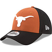 New Era Youth Texas Longhorns Burnt Orange/Black The League Blocked 9FORTY Adjustable Hat