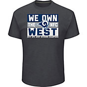 Men's Los Angeles Rams NFC West Division Champs Grey T-Shirt
