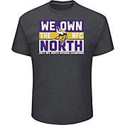Men's Minnesota Vikings NFC North Division Champs Grey T-Shirt