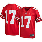 Nike Boys' Ohio State Buckeyes #17 Scarlet Game Football Jersey