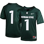 Nike Boys' Michigan State Spartans #14 Green Game Football Jersey