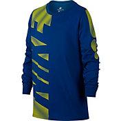 Nike Boys' Sportswear Astro Block Long Sleeve Graphic Shirt