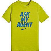 Nike Boys' Sportswear Ask My Agent Graphic T-Shirt