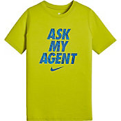Nike Boys' Sportswear Ask My Agent Graphic T-Shirt