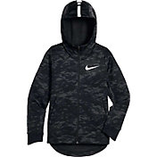 Nike Boys' Therma Elite Printed Full Zip Basketball Hoodie