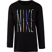 Nike Little Girls' Sport Essentials Dri-FIT Crossover Tunic Long Sleeve Shirt