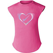Nike Little Girls' Iridescent Heart T-Shirt
