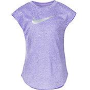 Nike Little Girls' Sublimated Heather Swoosh T-Shirt