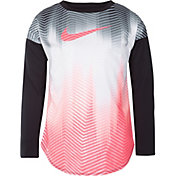 Nike Little Girls' Dri-FIT Gradient Long Sleeve Shirt