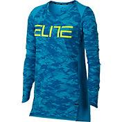 Nike Girls' Breathe Elite Printed Long Sleeve Basketball Shirt
