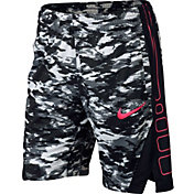 Nike Girls' Dry Elite Stripe Printed Basketball Shorts