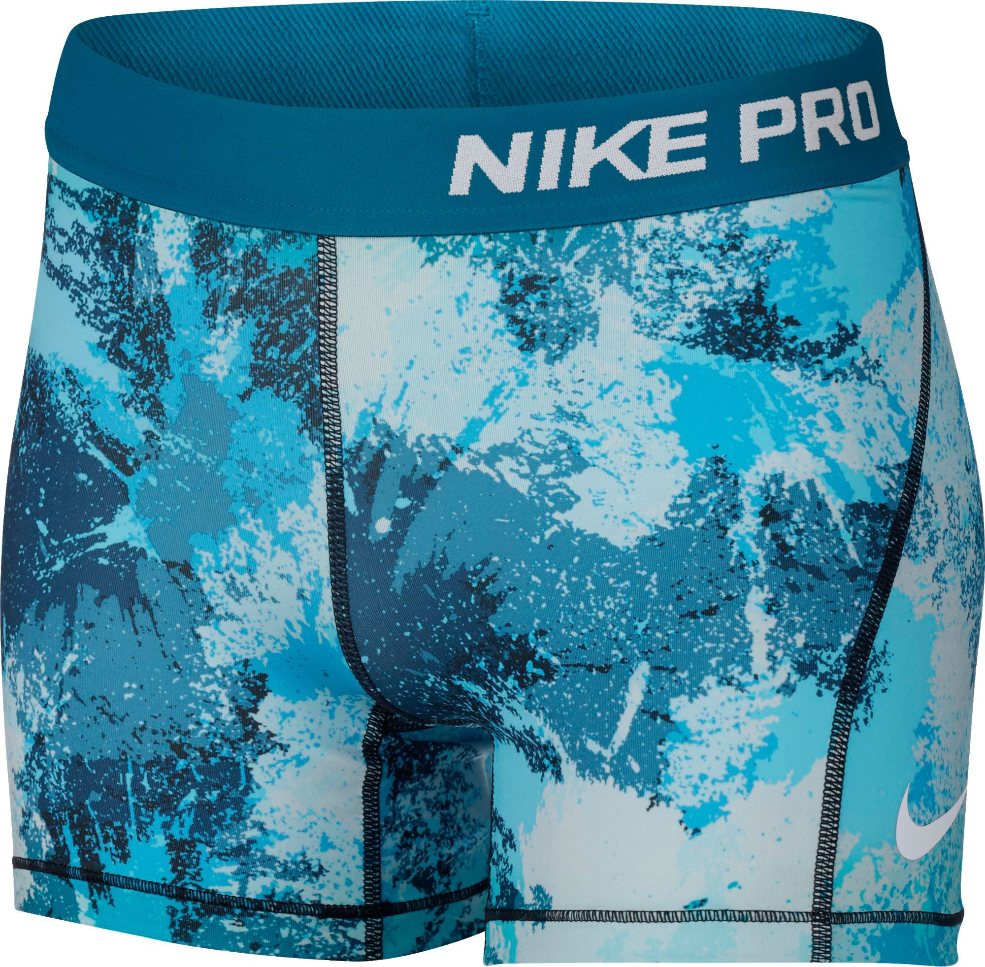 5bbef22deec outlet Nike Girls Pro Cool Shorts Chalkdust Printed Shorts DICKS ...