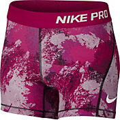 Nike Girls' Pro Cool Shorts Chalkdust Printed Shorts