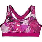 Nike Girls' Chalk Dust Printed Sports Bra