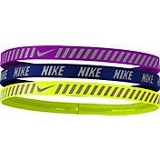 Nike Girls' Printed Hazard Stripe Headbands – 3 Pack