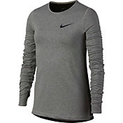 Nike Girls' Pro Warm Crew Long Sleeve Shirt