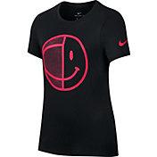 Nike Girls' Dry Smiley Ball Graphic T-Shirt