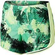 Nike Girls' Dry Chalk Dust Printed Tempo Running Shorts