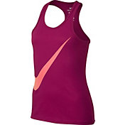Nike Girls' Exploded Swoosh Graphic Tank Top