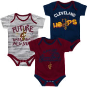 NBA Infant Cleveland Cavaliers 3-Piece Onesie Set