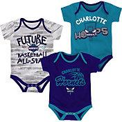 NBA Infant Charlotte Hornets 3-Piece Onesie Set