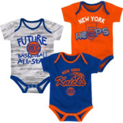 NBA Infant New York Knicks 3-Piece Onesie Set