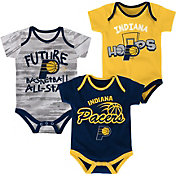 NBA Infant Indiana Pacers 3-Piece Onesie Set