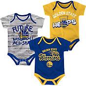 NBA Infant Golden State Warriors 3-Piece Onesie Set