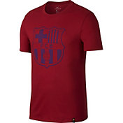 Nike Men's Barcelona Red Crest T-Shirt