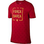 Nike Men's Barcelona Spring 18 Graphic Red T-Shirt