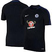Nike Mens Chelsea Breathe Squad Black Training Shirt